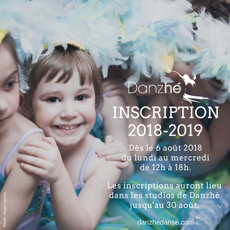 Inscriptions danzhé 2018-2019